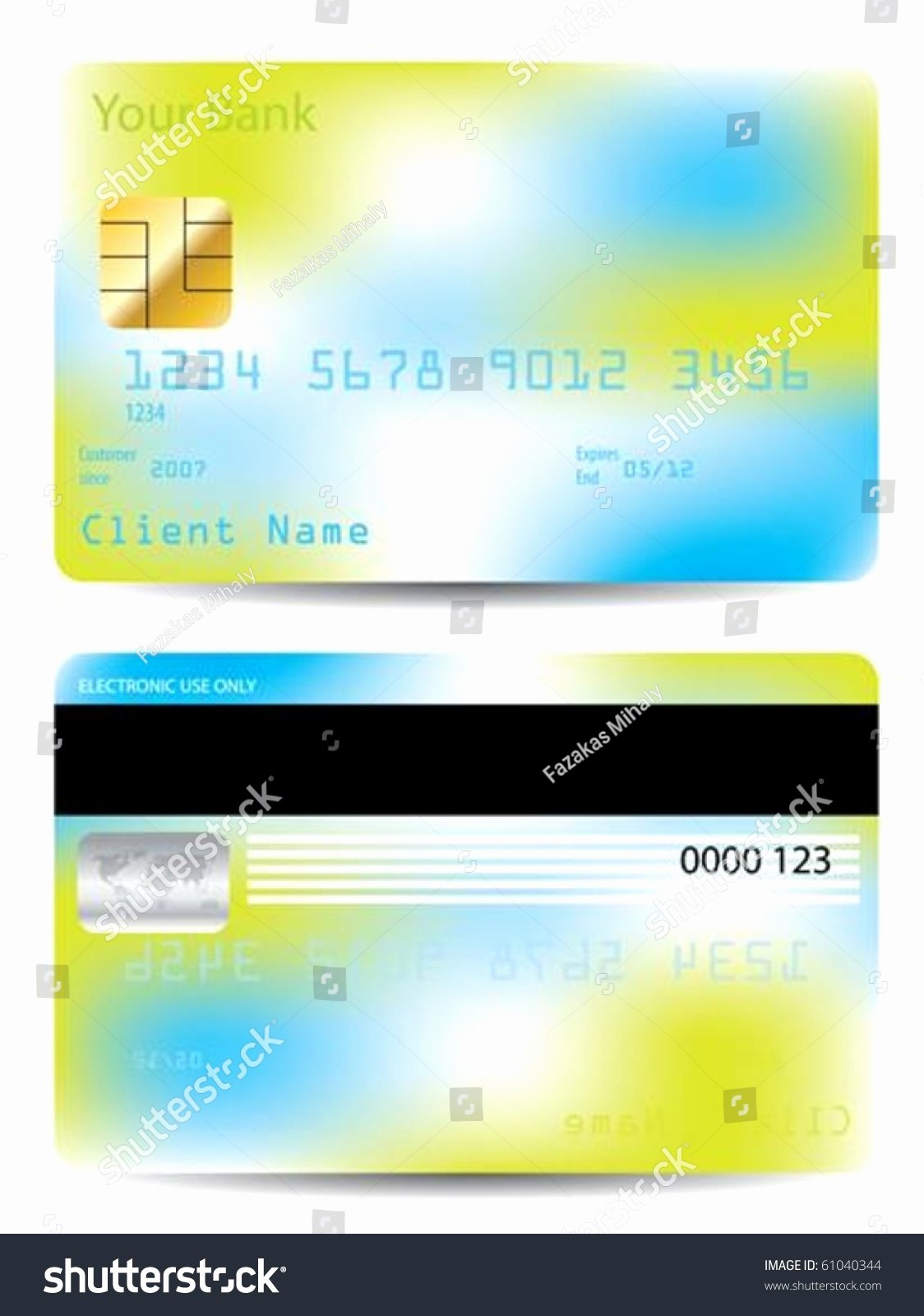 Credit Card Design Template New Colorful Credit Card Design Template Stock Vector