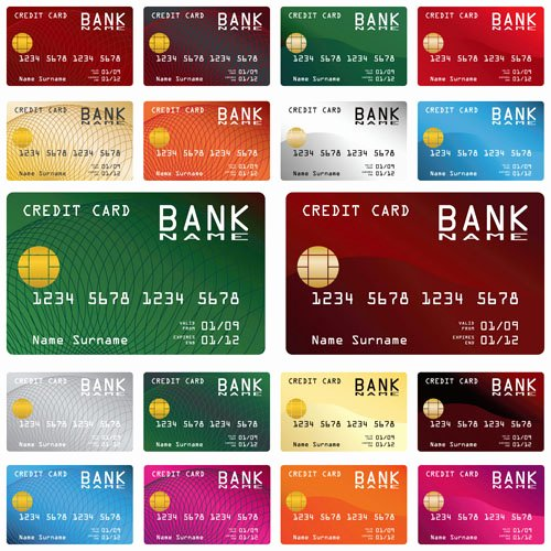 Credit Card Design Template Unique Credit Card Vector Template Set 03 Vector Card Free