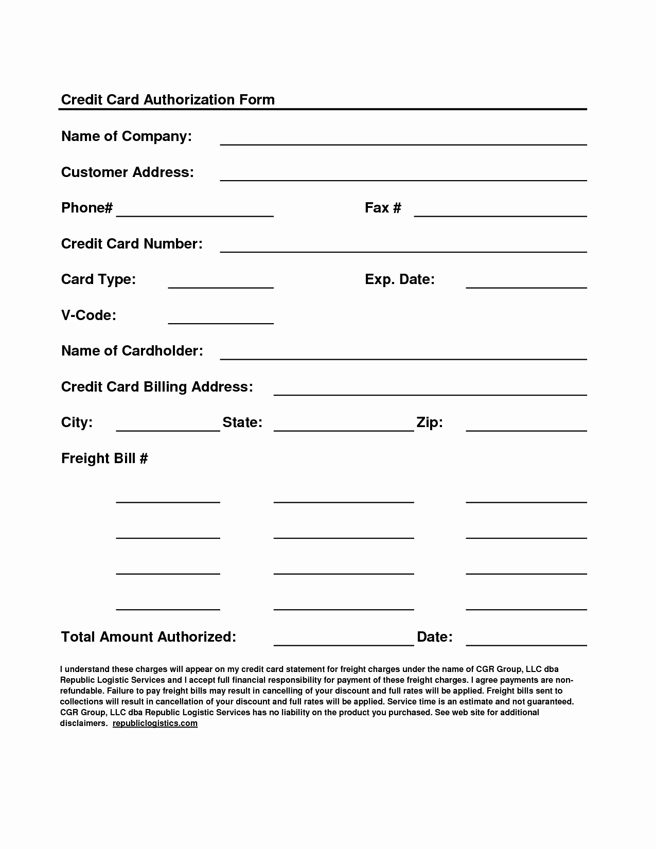 Credit Card form Template Beautiful Authorization form Template Example Mughals