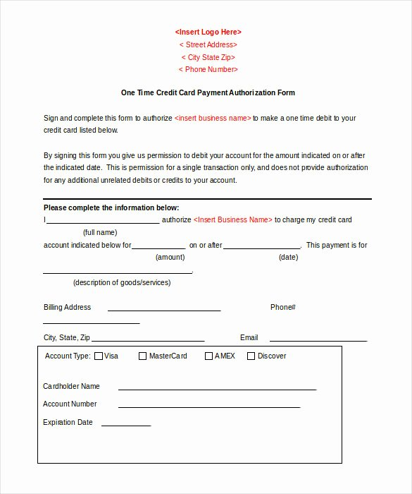 Credit Card form Template New 5 Credit Template Doc Pdf Eps
