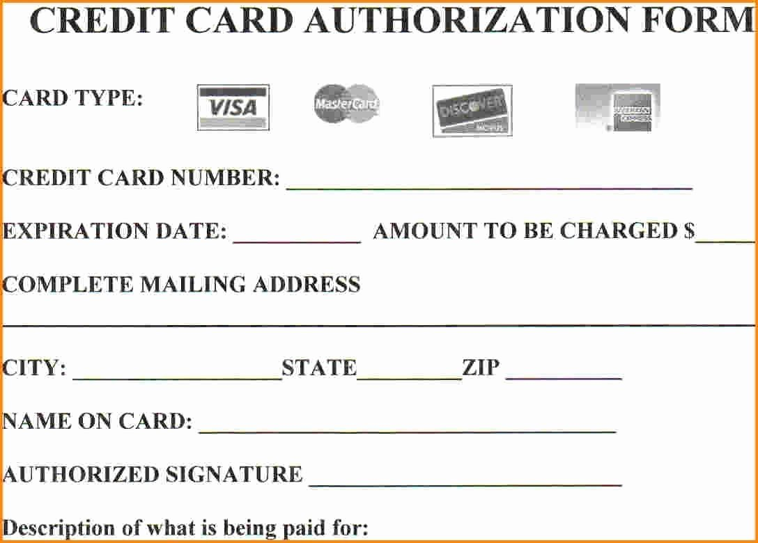 Credit Card Payment form Template Awesome Looking to Credit Card Authorization form then