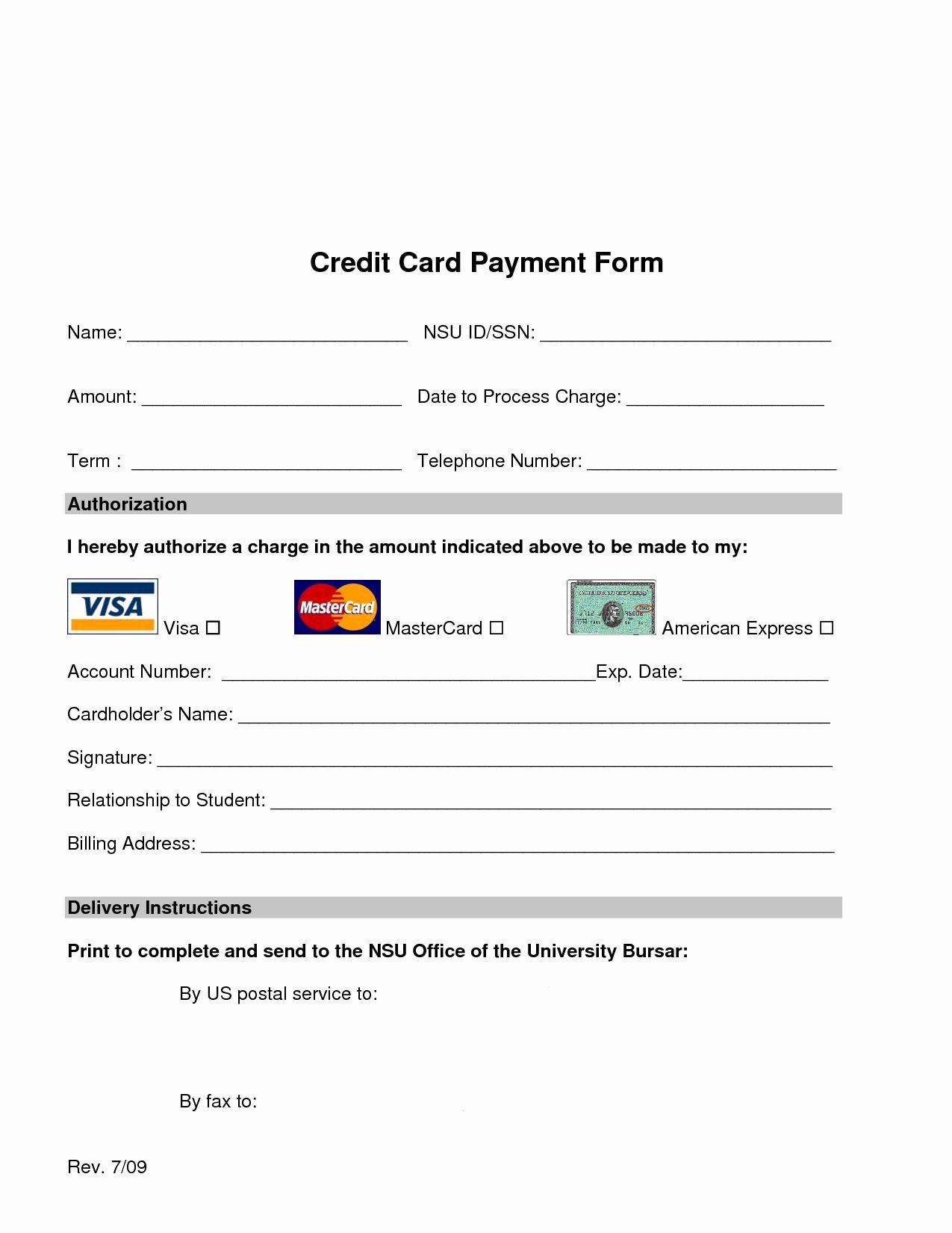Credit Card Payment form Template Lovely Credit Cards with Credit Score Requirements