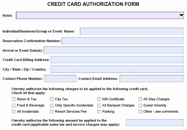 Credit Card Payment form Template Unique 10 Credit Card Authorization form Template Free Download