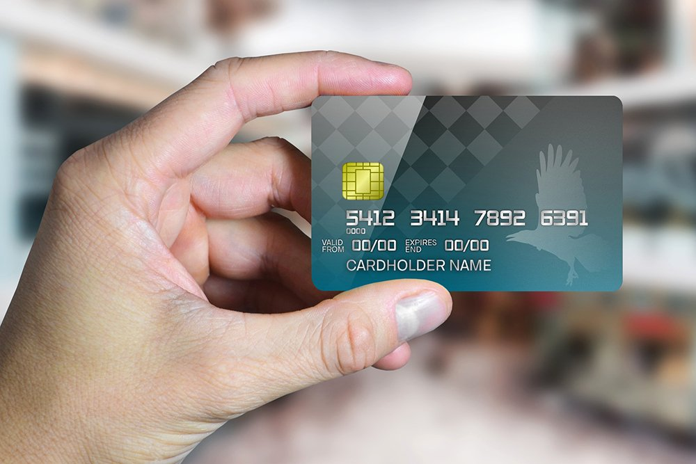 Credit Card Template Maker Awesome Credit Card In Hand Line Mockup Generator