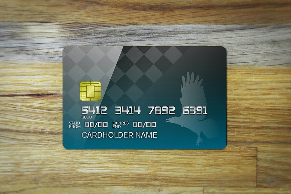 Credit Card Template Maker Beautiful Credit Card Mockup On Wood Table Background