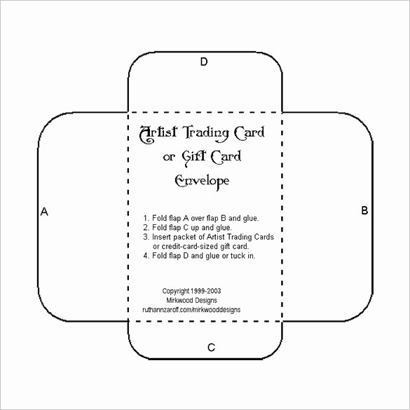 Credit Card Template Maker Best Of 10 Gift Card Envelope Templates Free Printable Word