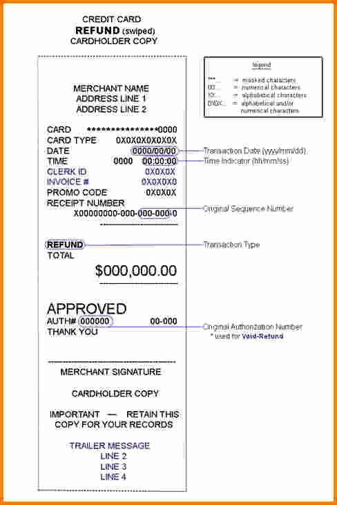 Credit Card Template Maker Elegant 8 Credit Card Receipt Template