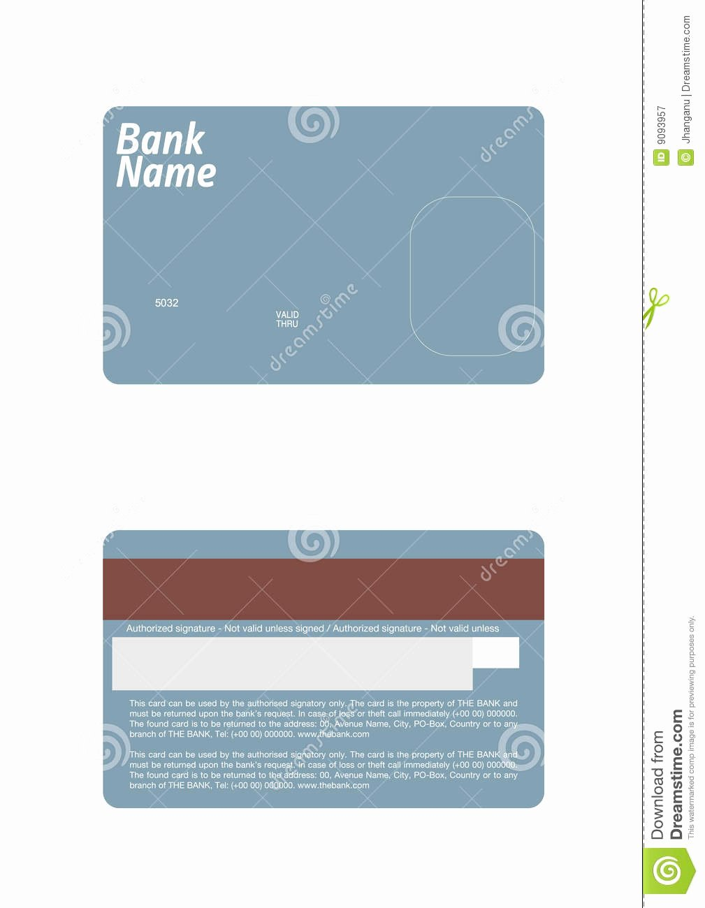 Credit Card Template Word Awesome Credit Card Template Stock Vector Illustration Of Debit