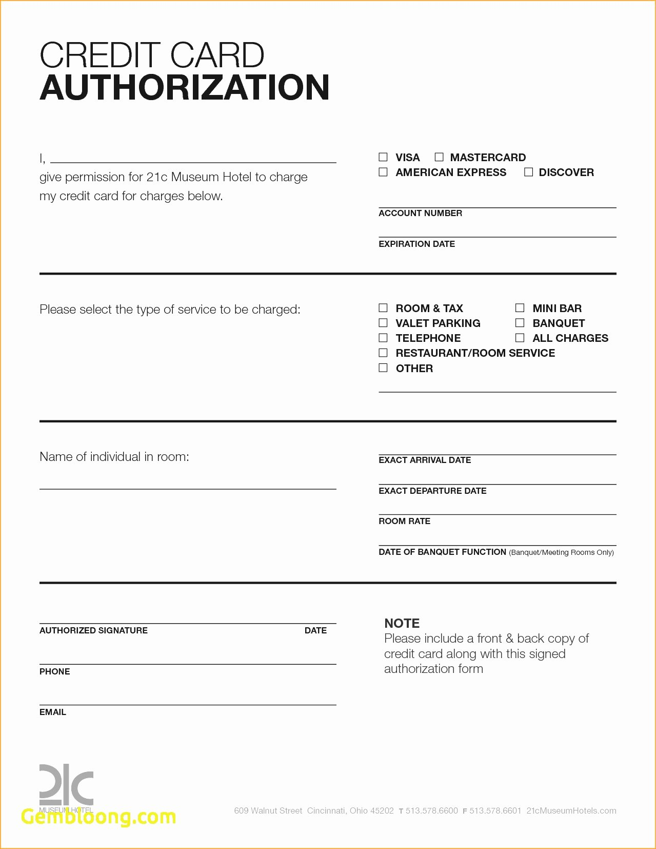 Credit Card Template Word Unique Credit Card Authorization form Pdf Fillable