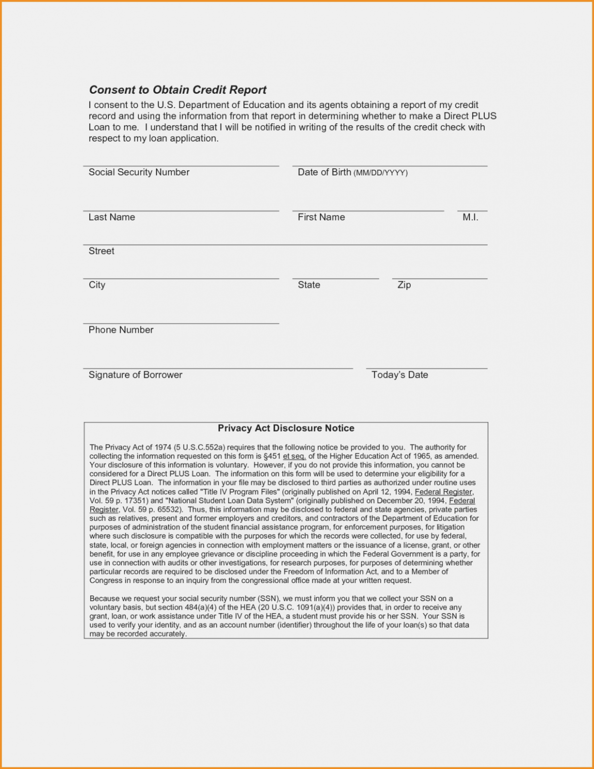 Credit Report Authorization form Template Best Of 13 Ugly Truth About Borrower Authorization