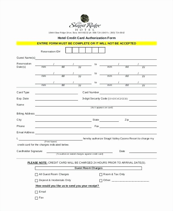 Credit Report Authorization form Template Best Of Professional Credit Card Authorization form Sample