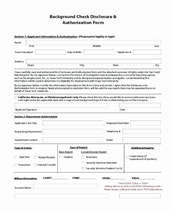 Credit Report Authorization form Template Elegant Free Hotel Credit Card Authorization forms Word Printable
