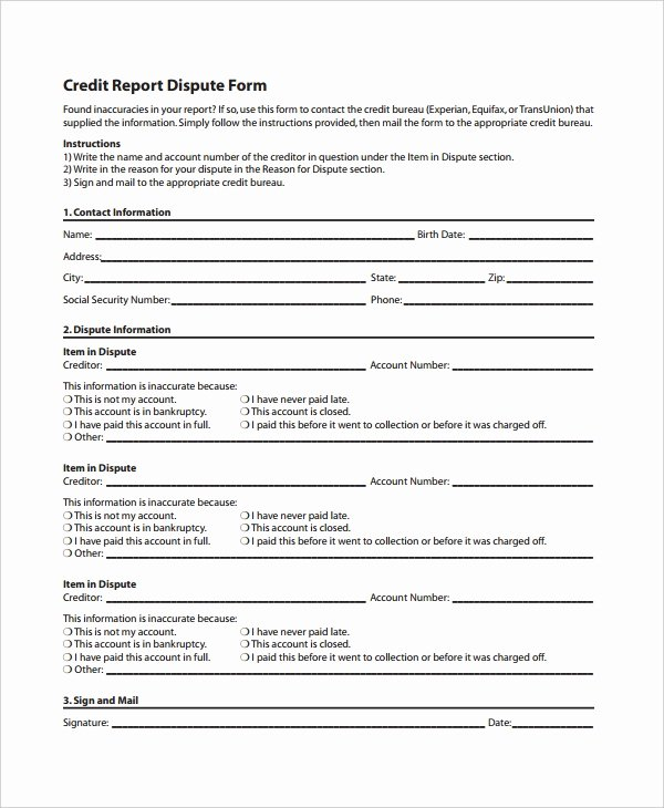 Credit Report Authorization form Template Inspirational 10 Credit Templates Free Sample Example format