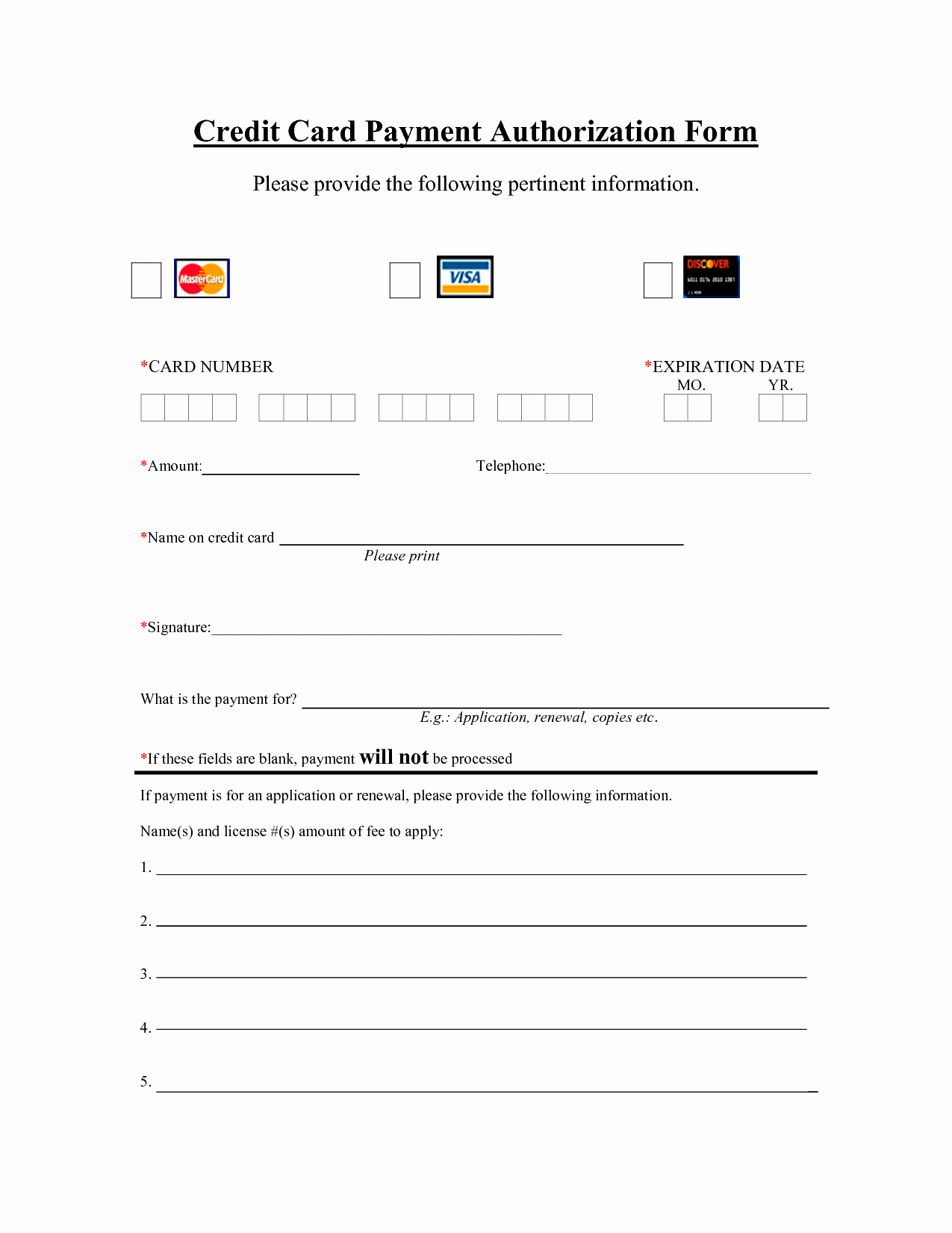 Credit Report Authorization form Template Inspirational Template Credit Card Payment Authorization Template