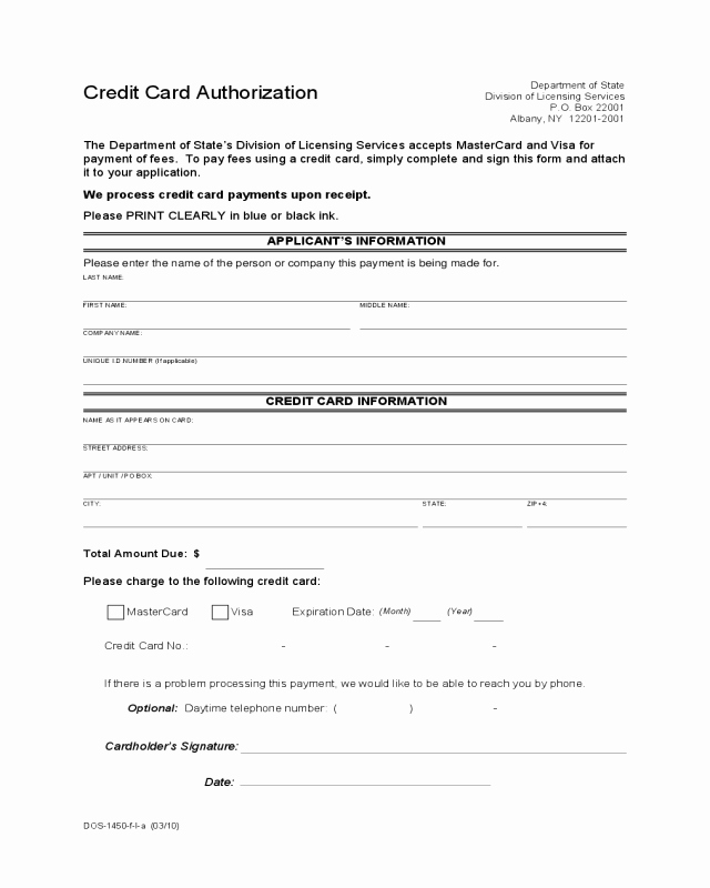 Credit Report Authorization form Template Luxury 2019 Credit Card Authorization form Fillable Printable
