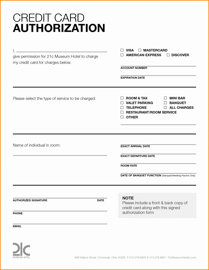 Credit Report Authorization form Template New Card Credit Card Authorization form