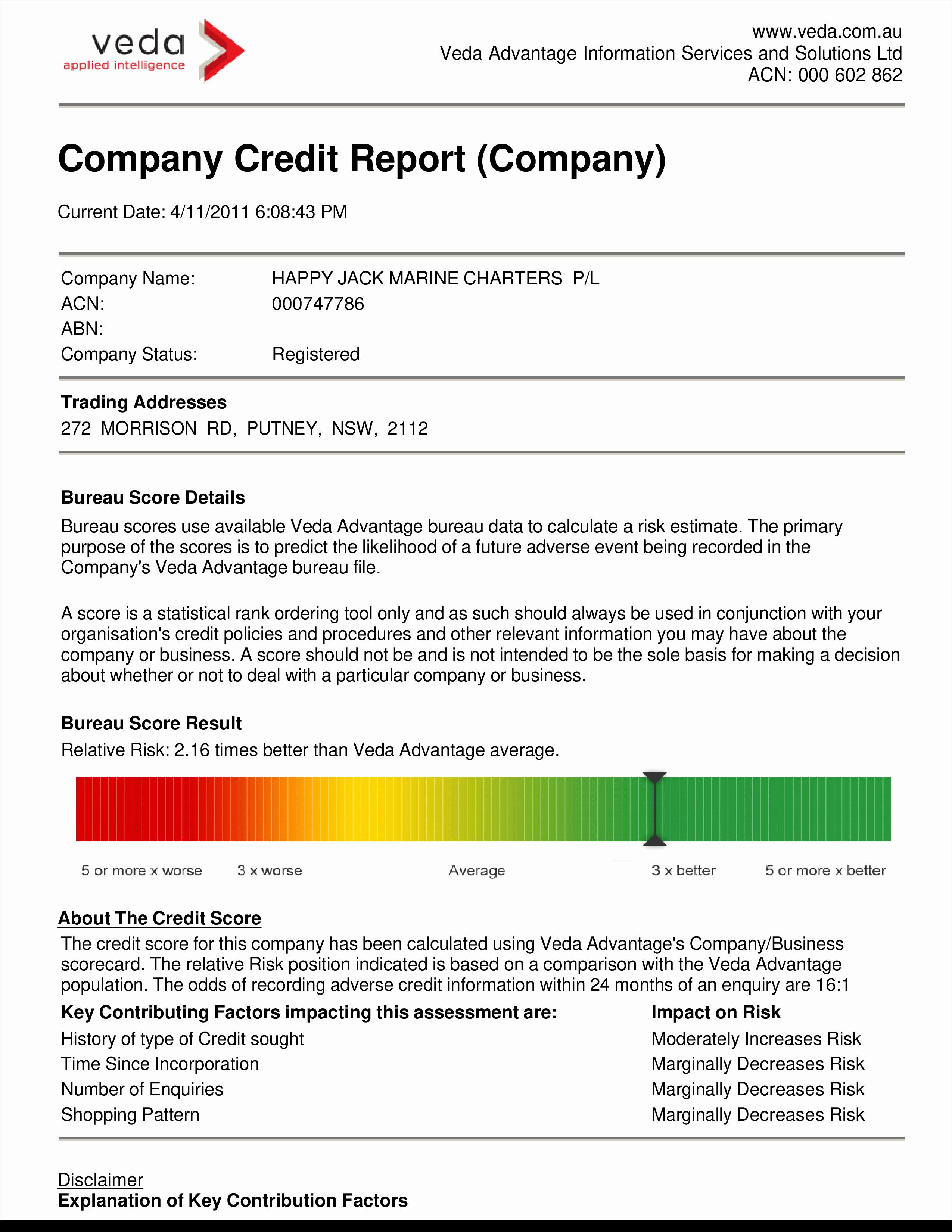 Credit Report Template Free Beautiful Free Pany Credit Report