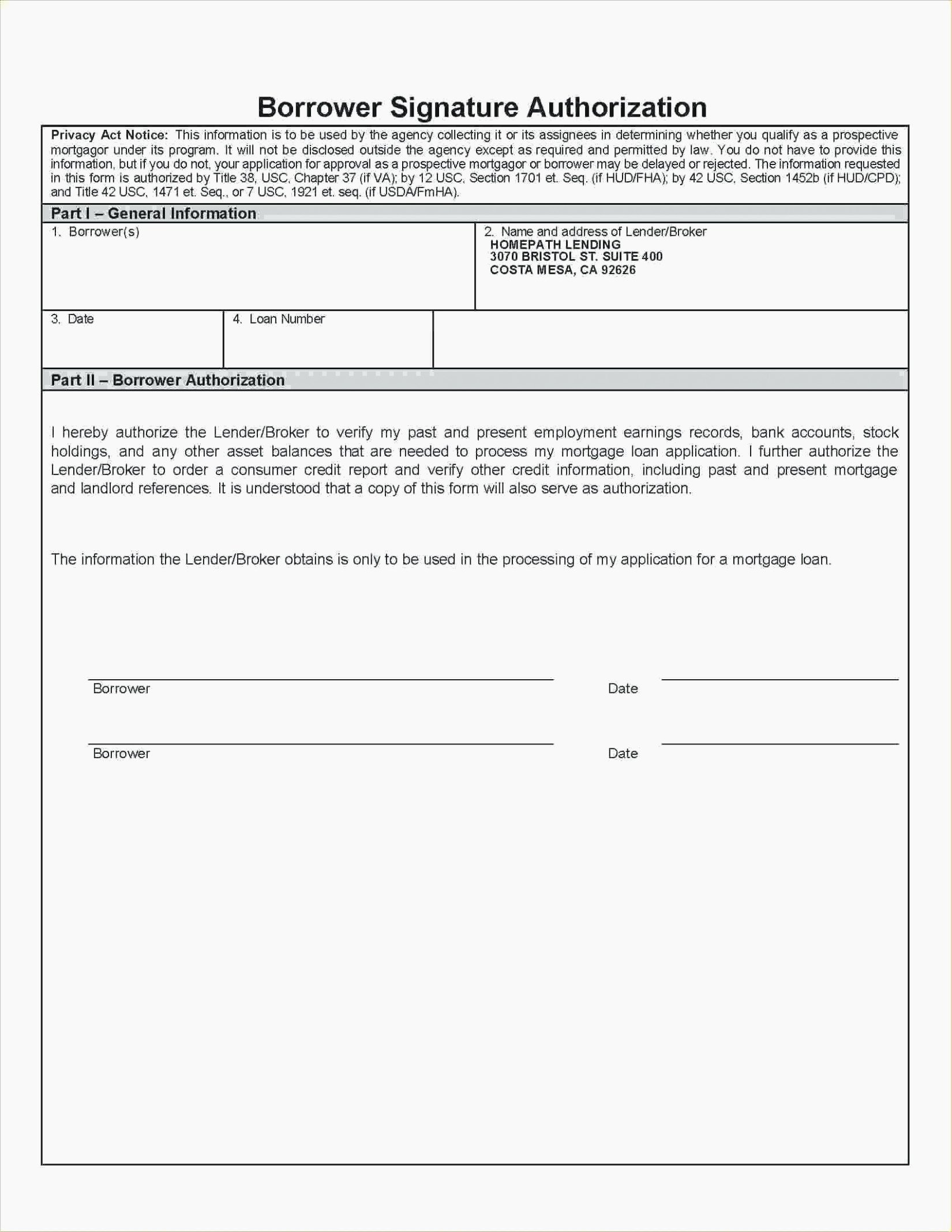 Credit Report Template Free Best Of 96 Credit Report Authorization form Template Credit
