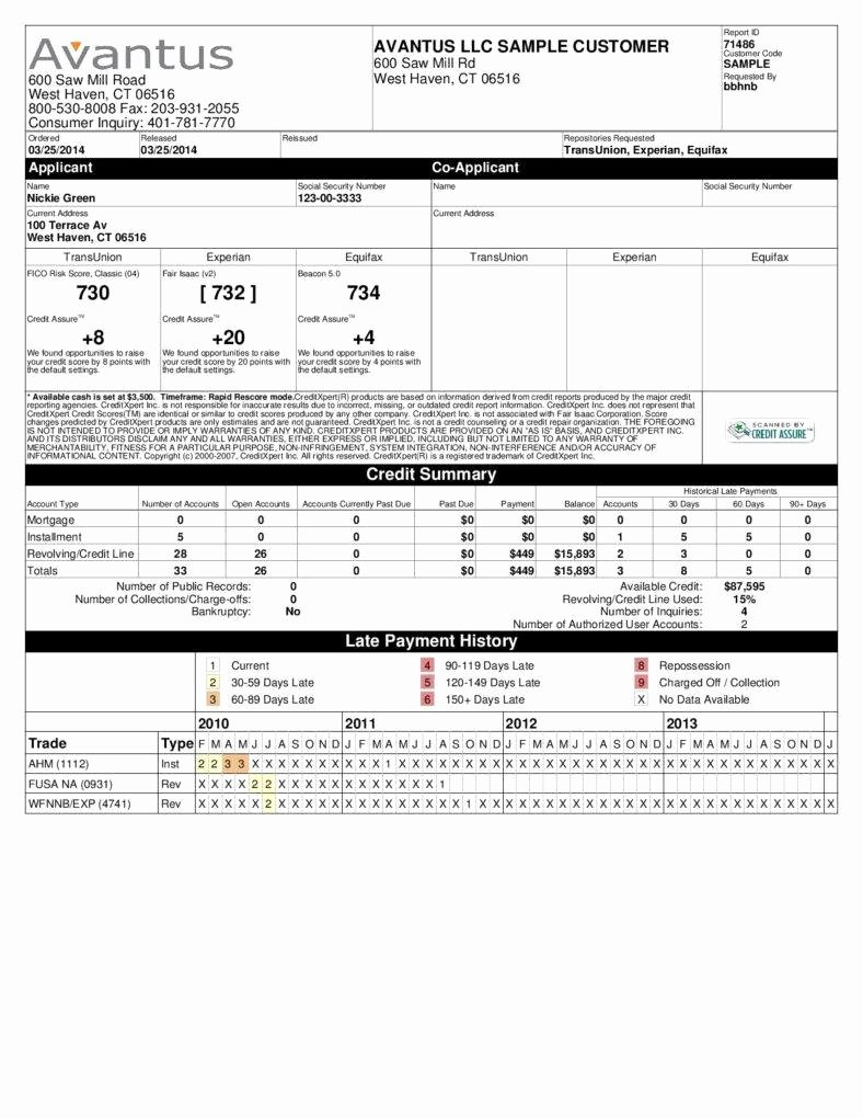 Credit Report Template Free Inspirational How A Credit Report is Different From A Credit Score