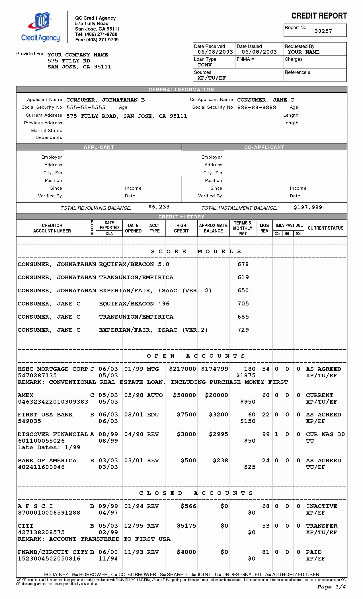 Credit Report Template Free Unique Credit Report Template