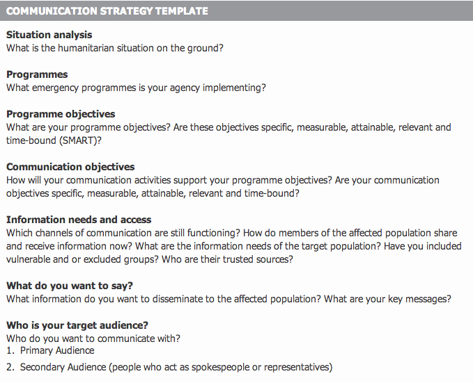 Crisis Communication Plan Template Beautiful towards the Design Of A Munication with Affected
