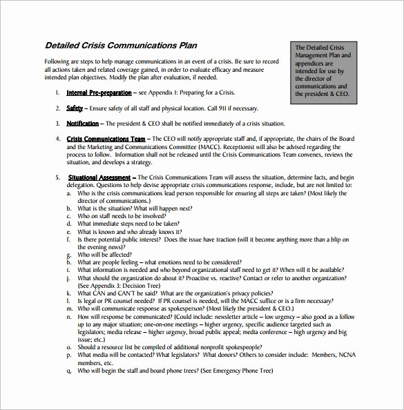 Crisis Communication Plan Template Inspirational Crisis Munications Plan Template Invitation Template