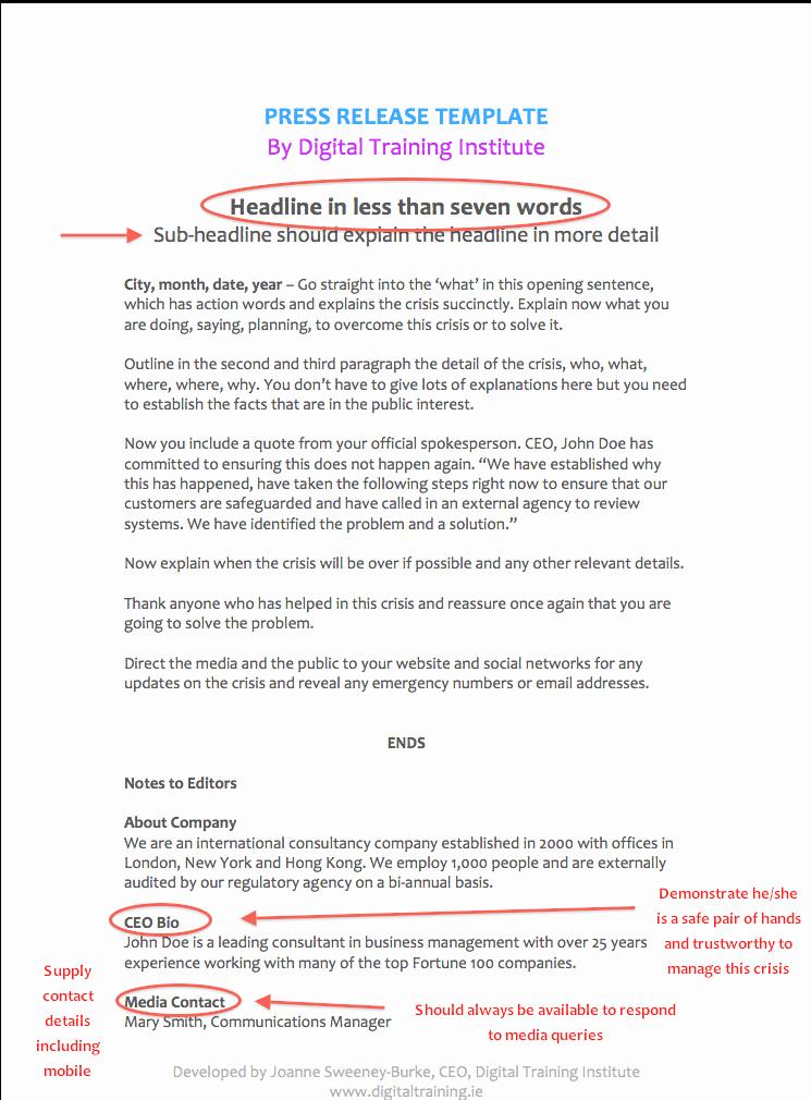 Crisis Communication Plan Template Lovely Pr Crisis Munications Plan