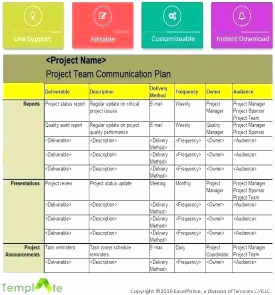 Crisis Communication Plan Template Unique Template for Munication Plan – Picks