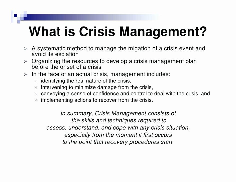 Crisis Management Plan Template Inspirational Crisis Management Plan Template Download Individual