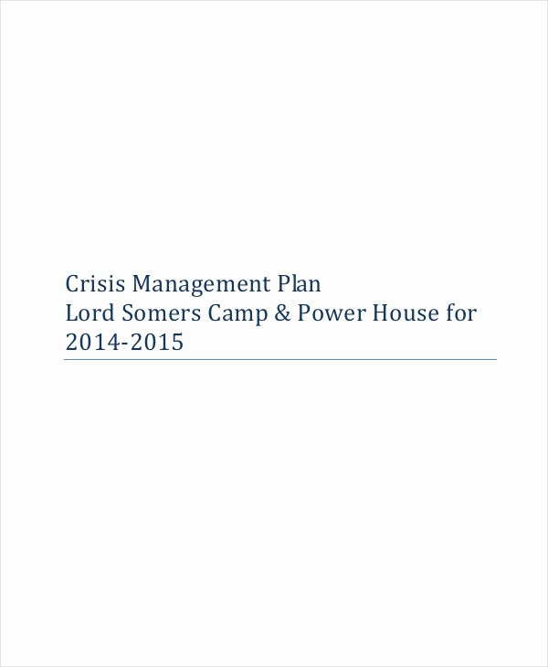 Crisis Management Plan Template Lovely 10 Crisis Management Plan Templates Sample Word Google