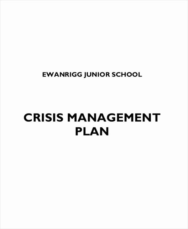 Crisis Management Plan Template Unique 10 Crisis Management Plan Templates Sample Word Google