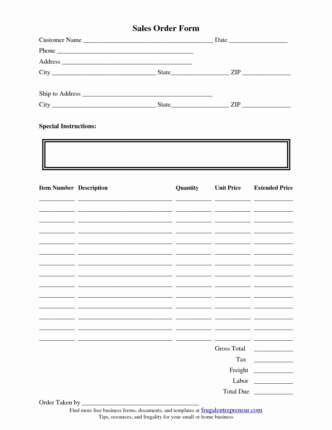 Custom order form Template Lovely order form Template