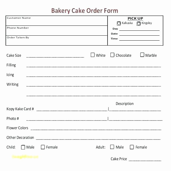 Custom order forms Template Awesome Cake Pop order form Template – Updrill