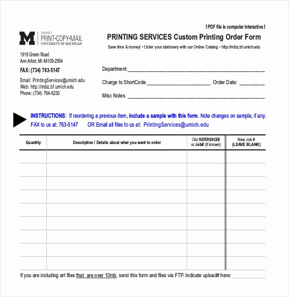 Custom order forms Template Beautiful 28 Blank order Templates – Free Sample Example format