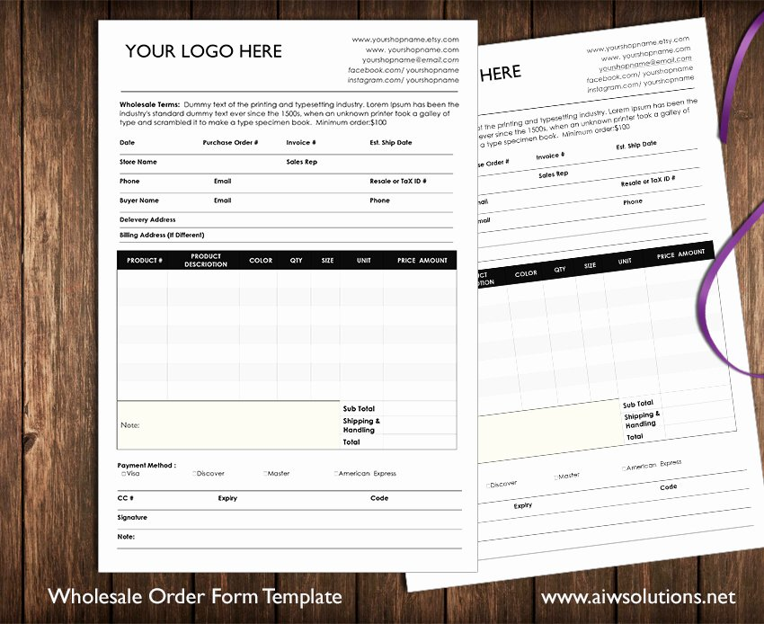 Custom order forms Template Beautiful Custom Catalog Custom Line Sheet Line Sheet Design