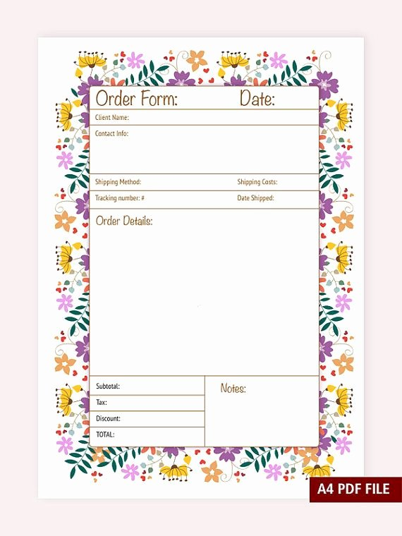Custom order forms Template Unique Best 25 order form Ideas On Pinterest