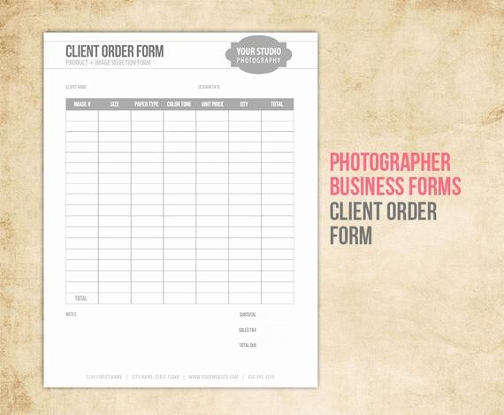 Custom order forms Template Unique Graphy Business forms Client order form for