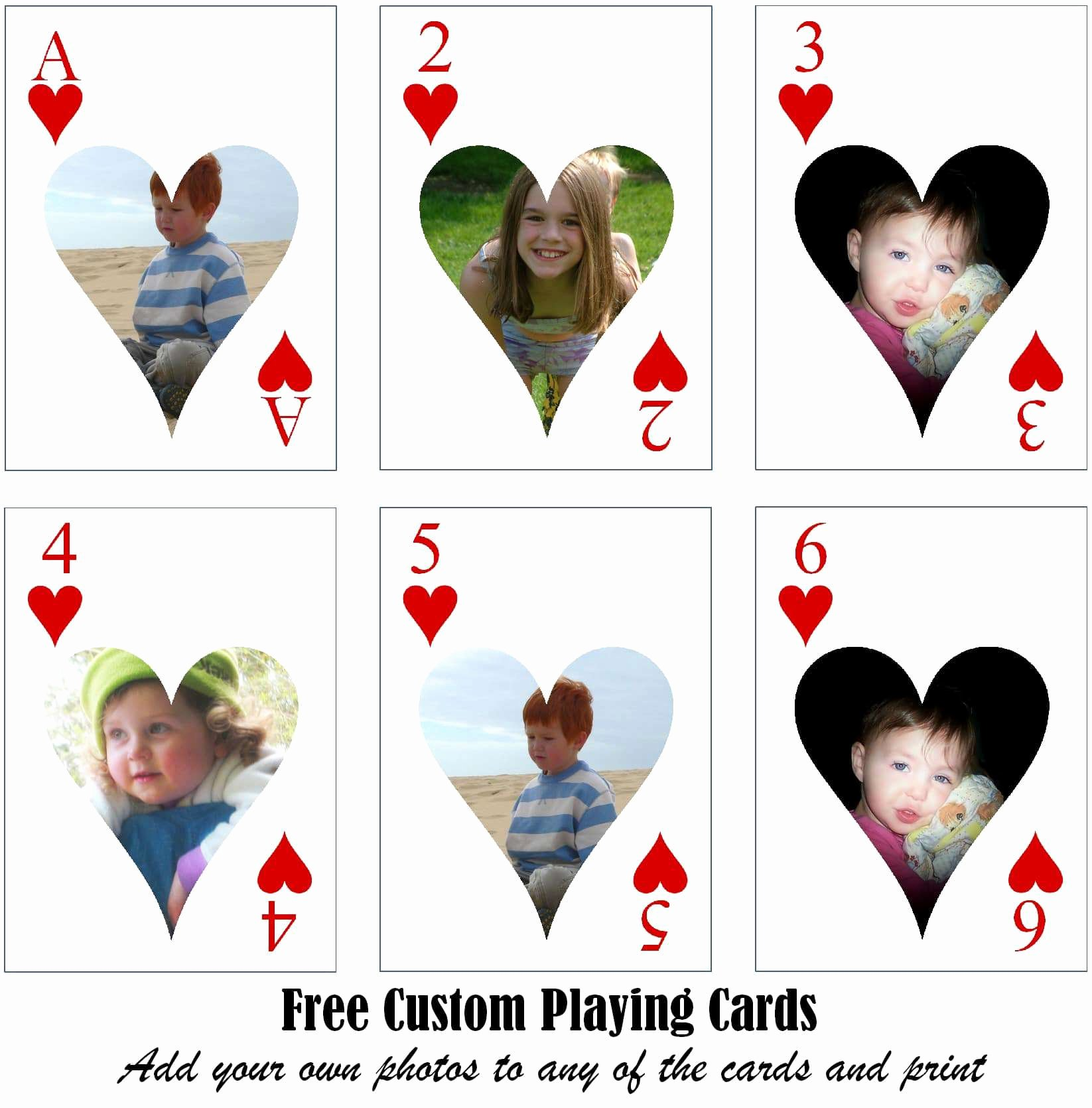 Custom Playing Card Template Elegant Free Printable Custom Playing Cards