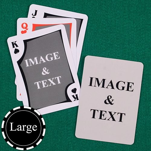 Custom Playing Card Template Elegant Personalized Playing Cards