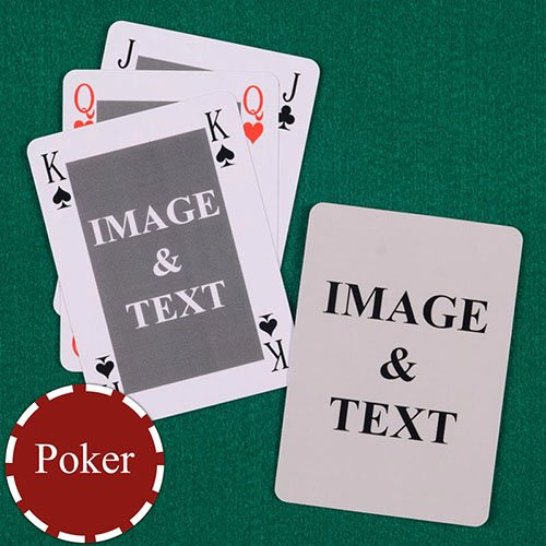 Custom Playing Card Template Fresh Classic Bridge Style Poker Size Custom Front and Back