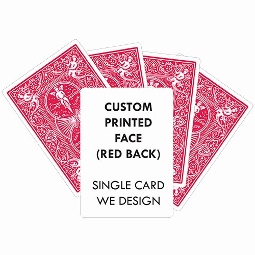 Custom Playing Card Template Fresh Custom Printed Playing Cards Blue Back Bicycle Printing