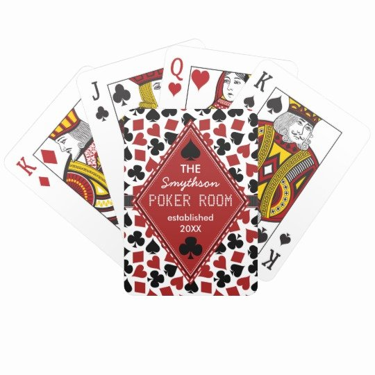 Custom Playing Card Template Fresh Customizable Poker Room Casino Custom Club Name Playing