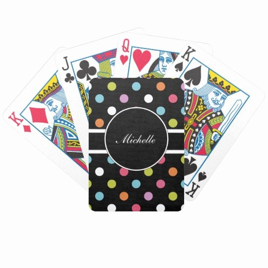 Custom Playing Card Template Lovely Monogram Personalized Playing Cards