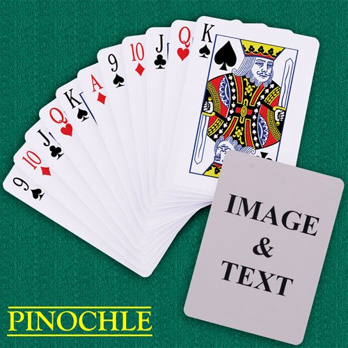 Custom Playing Card Template New Custom Pinochle Playing Cards Standard Index