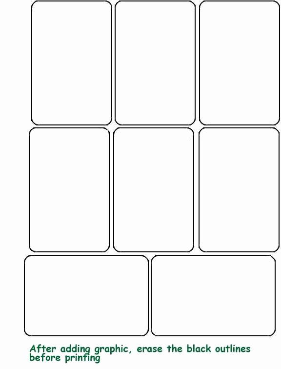 Custom Playing Card Template Unique Blank Template Hrac Karty