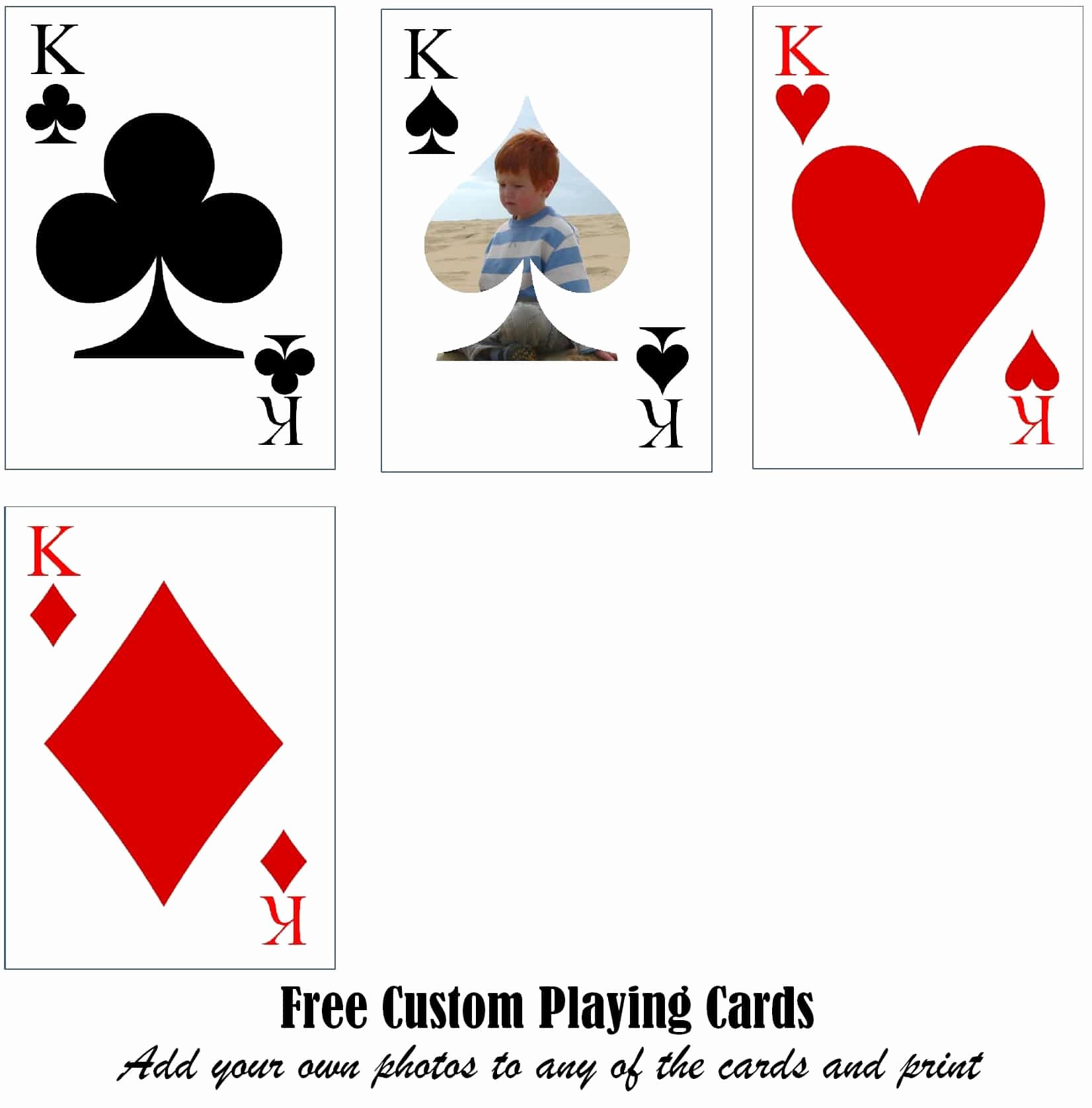 Custom Playing Card Template Unique Free Printable Custom Playing Cards