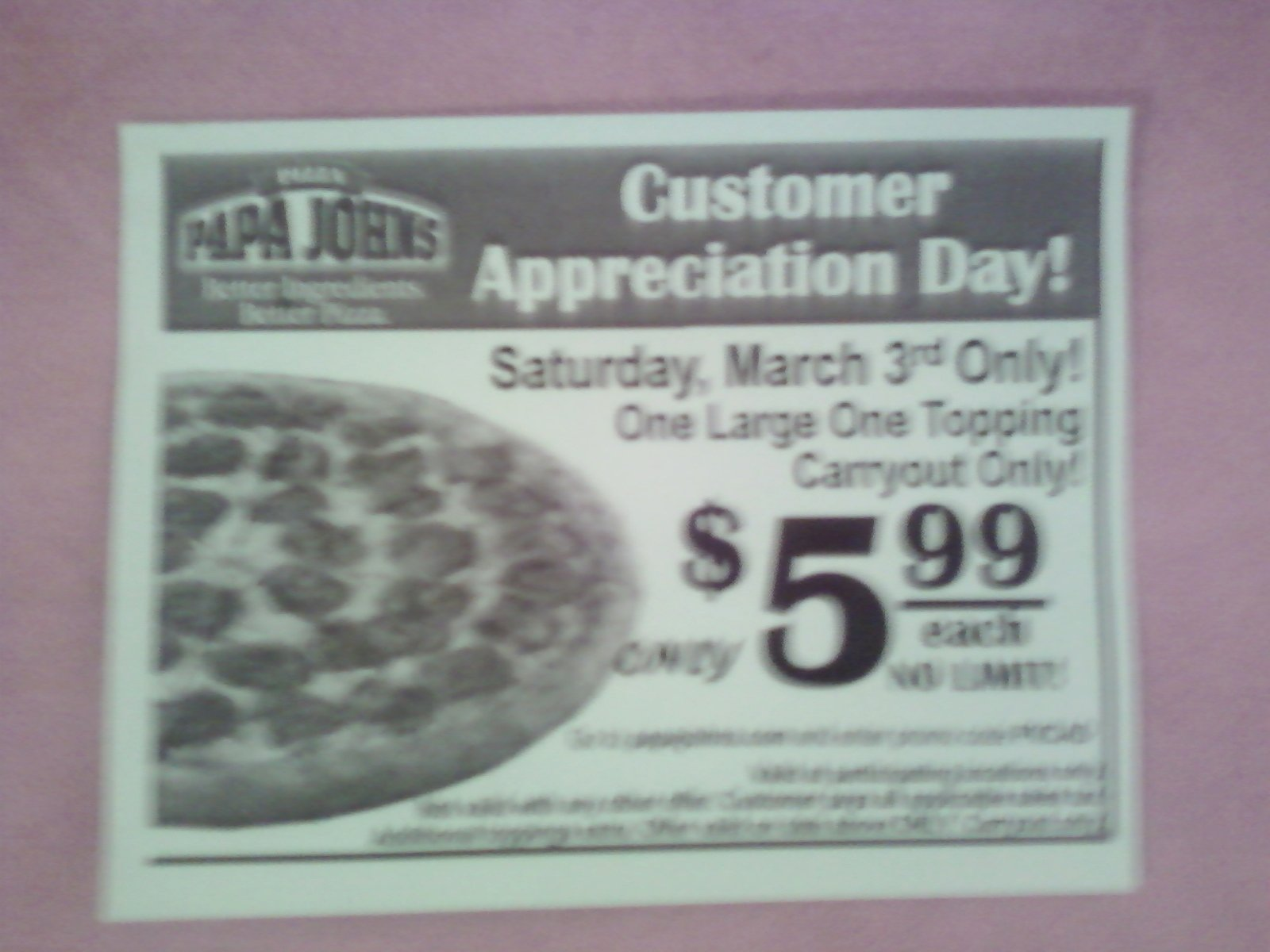 Customer Appreciation Day Flyer Template Best Of Arizona Families Papa John S Cusromer Appreciation Day 3