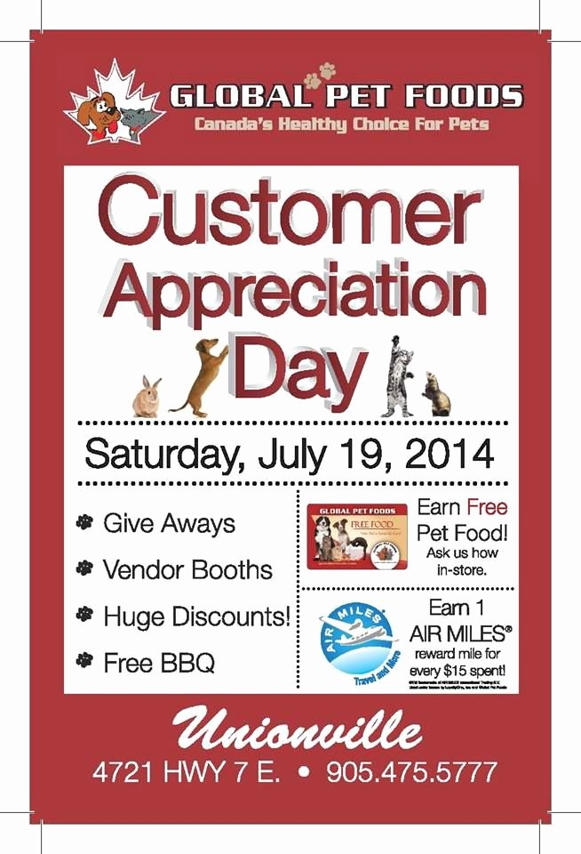 Customer Appreciation Day Flyer Template Elegant Customer Appreciation Day Flyer Template to Pin
