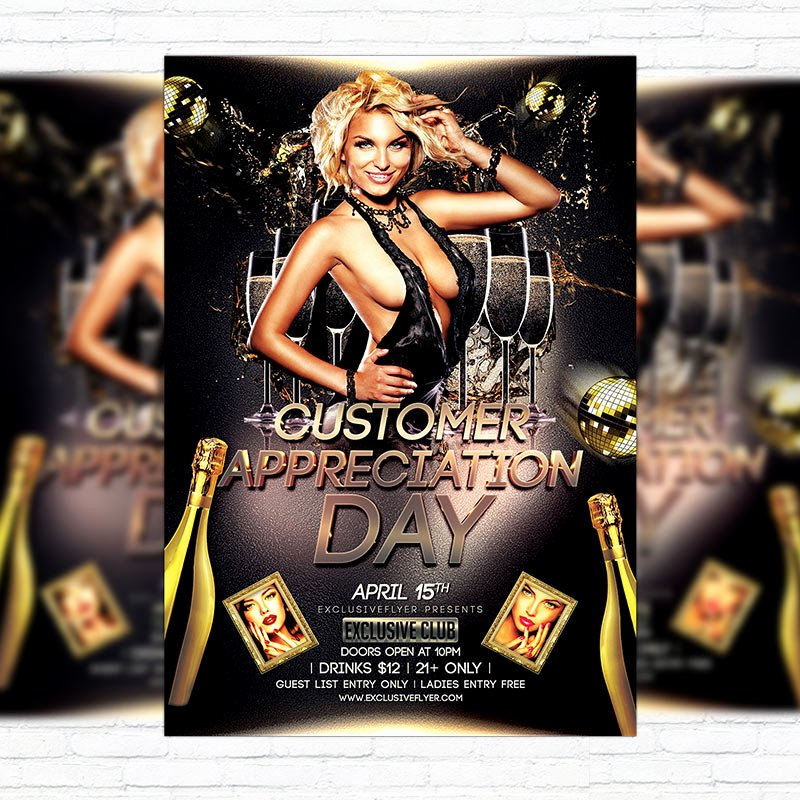 Customer Appreciation Day Flyer Template Elegant Customer Appreciation Day – Premium Flyer Template