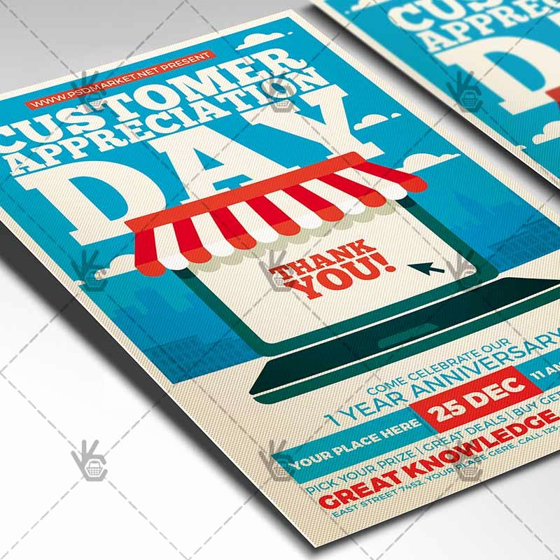 Customer Appreciation Day Flyer Template Inspirational Customer Appreciation Day Business Flyer Psd Template
